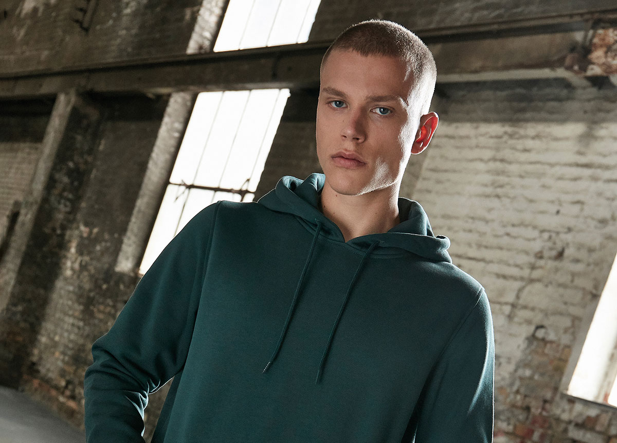 Green workwear hoodie