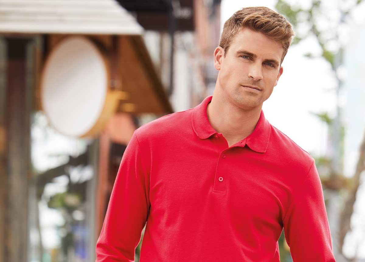 Gildan Red Polo shirt